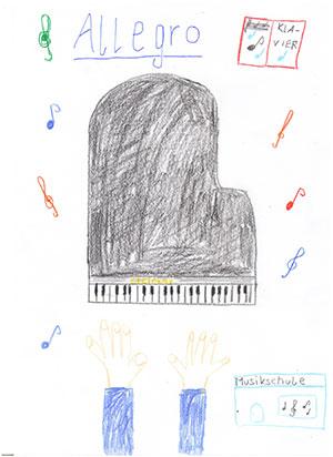 Malwettbewerb Musikschule Allegro in Grevenbroich